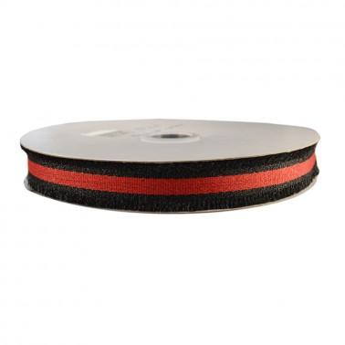 Лента отделочная, цвет черный+красный