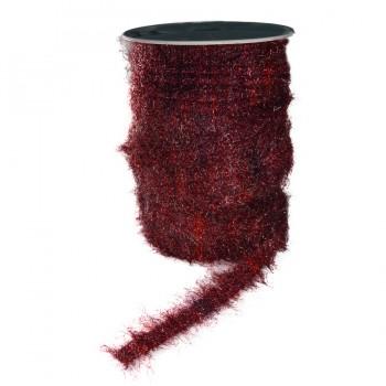 Тесьма декоративная, цвет бордо