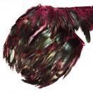 Тесьма декоративная с перьями,  цвет бордовый