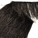 Тесьма декоративная с перьями, цвет черный