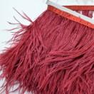 Тесьма декоративная с перьями, цвет бордо
