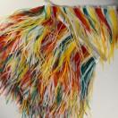 Тесьма декоративная с перьями, цвет разноцветный