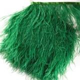Тесьма декоративная с перьями, цвет зеленый