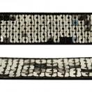 Тесьма декоративная с пайетками, цвет никель+черный