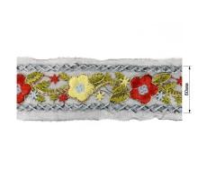 Тесьма декоративная с вышивкой