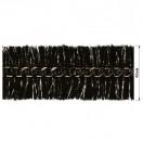 Тесьма декоративная с цепочкой, цвет черный+оксид