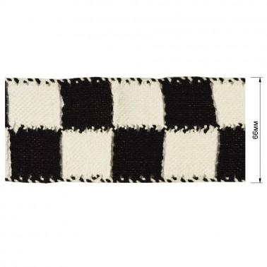 Тесьма декоративная, цвет белый+черный