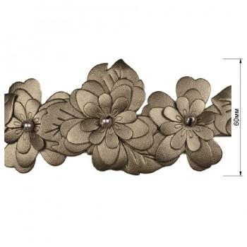 Тесьма декоративная иск.кожа, цвет металлизированный