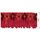 Тесьма декоративная с бахромой, цвет розовый+оранжевый