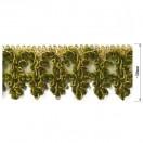 Тесьма декоративная, цвет золото+зеленый