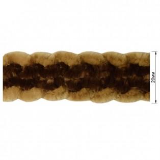 Тесьма декоративная, цвет бежевый+коричневый