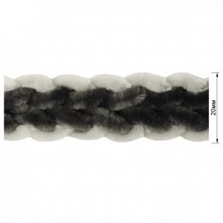 Тесьма декоративная, цвет серый+т.серый