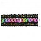 Тесьма декоративная с пайетками, цвет разноцветный