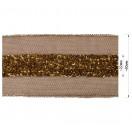 Тесьма декоративная из бисера, цвет коричневый
