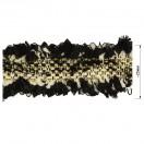 Тесьма декоративная с бахромой , цвет черный+белый