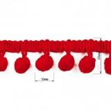 Тесьма декоративная с бубенчиками (d=10мм)