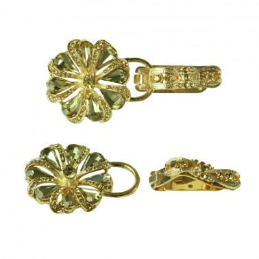 Декоративная застежка, шубный крючок (застежка шубная), цвет золото