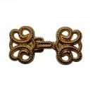 Декоративная застежка, крючок металлический, цвет золото