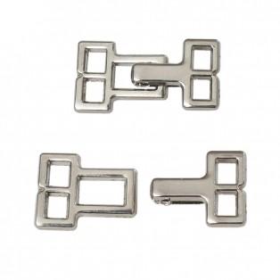 Крючок-застежка декоративная метал., цвет никель