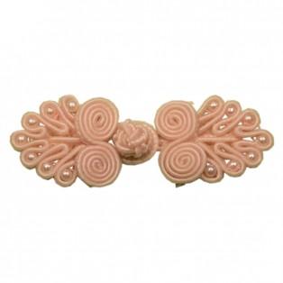 Застежка-клевант текстильный, цвет св.розовый