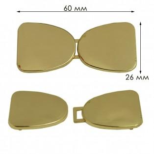 Крючок-застежка декоративная металлическая, цвет золото
