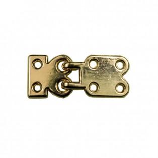 Застежка клевант декоративная, металлическая, цвет золото