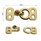 Декоративная застежка, крючок металлический, 12*30мм, цвет золото
