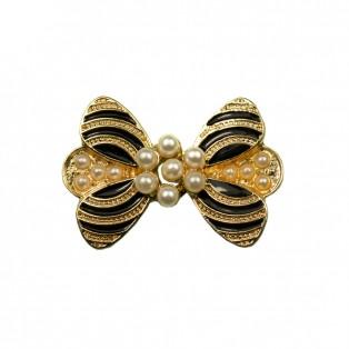 Застежка декоративная металлическая, цвет золото