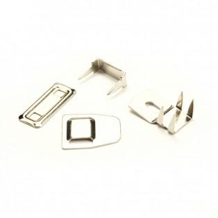 Крючок брючный  4шипа  метал., цвет никель