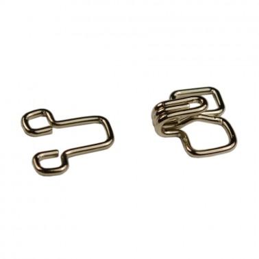 Крючок швейный метал., цвет никель