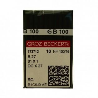 Игла  Groz-Beckert  для промышленных машин,  для оверлочных машин, 27-B (DCx27, 81x1), №100