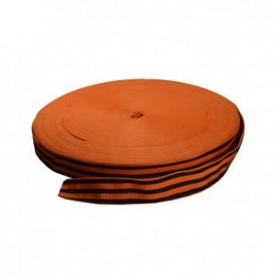 Лента отделочная  Георгиевская , цвет оранжевый+черный