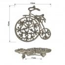 """Брошь на булавке, """" велосипед"""",  цвет матовое серебро+стразы"""