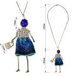 Кулон на цепочке,  цвет синий люрекс+страза+никель