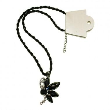 Кулон, бабочка, цвет черный+никель