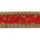 Лента клеевая, цвет красный+золото