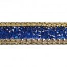 Лента клеевая, цвет синий+золото