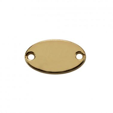 Пластинка пришивная металлическая, цвет золото