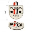 Нашивка декоративная кожа, Petasia,  цвет белый+черный