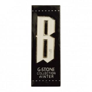 Нашивка декоративная кожа+метал., цвет черный+белый