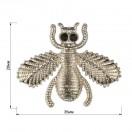 Украшение пришивное металлическое, муха, цвет никель