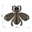 Украшение пришивное металлическое, муха, цвет оксид