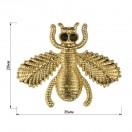 Украшение пришивное металлическое, муха, цвет золото