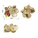 Украшение пришивное, цвет золото+белый+хамелеон