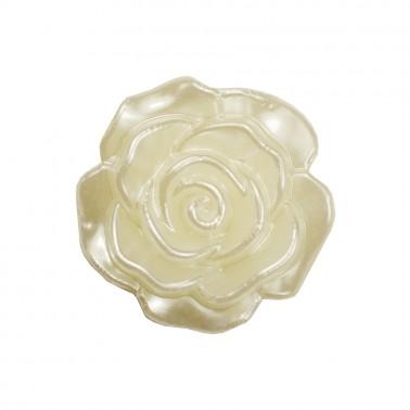 Украшение пришивное пластиковая, цветок, 23мм, цвет перламутр