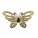 Украшение пришивное пластиковое, бабочка, цвет золото