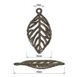 Украшение пришивное декоративное, листик, цвет оксид