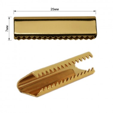Зажим-украшение металлическое,25мм, цвет золото