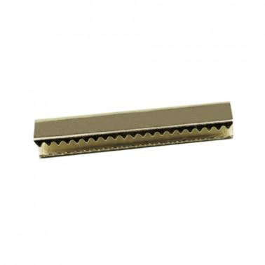 Зажим-украшение металлическое,30мм, цвет никель
