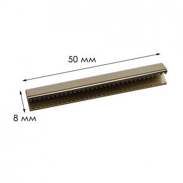 Зажим-украшение металлическое, 50мм, цвет никель